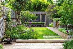 family garden, access to work studio, entertaining space and place to unwind amongst beautiful, romantic planting. Small Garden Landscape, Small City Garden, Small Backyard Gardens, Small Gardens, Small Garden Layout, Urban Garden Design, Back Garden Design, Backyard Garden Design, Front House Landscaping