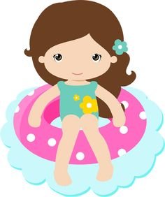 ●‿✿⁀ Girls ‿✿⁀● Beach Clipart, Summer Clipart, Girl Clipart, Aloha Party, Beach Party, Royal Icing Transfers, Seasonal Image, Dibujos Cute, Clip Art
