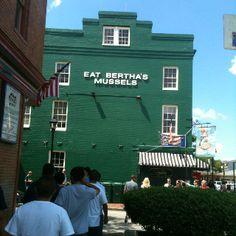 Eat Bertha's Mussels, Baltimore Maryland.