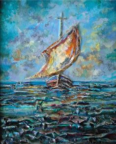 "ARTFINDER: Boat by Sinisa Saratlic - Medium : acrylic on canvas panel, mixed-media original painting  Dimensions : 16"" x 20"" ( 40.64 cm x 50.8 cm )   Finish: Professional grade acrylics on ..."