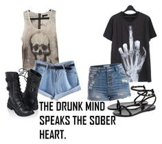"""""""I drift from lane to lane and wonder when will I be sober again"""" by red-foxess-and-wolf ❤ liked on Polyvore featuring The Kooples, Forever 21, Pieces, Ted Baker, women's clothing, women's fashion, women, female, woman and misses"""