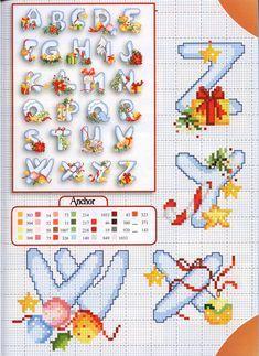 Cross stitch Christmas alphabet (4)