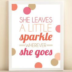 Amanda Catherine Peach Go Sparkle Print on sneakpeeq