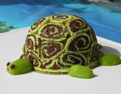 gâteau tortue : gâteau roulé garni de nutella!