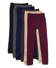 Look at this Black & Nude Fleece-Lined Leggings Set - Women & Plus on #zulily today!