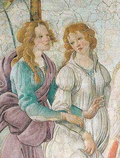 Botticelli - Venus et les Grâces offrant des présents à une jeune fille