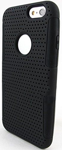 """myLife 2 Layer Neo Hybrid Bumper Case for iPhone 6 Plus (5.5"""" Inch) by Apple {Licorice Black """"Perforated Mesh Net"""" Two Piece SECURE-Fit Rubberized Gel} myLife Brand Products http://www.amazon.com/dp/B00PT4F7WS/ref=cm_sw_r_pi_dp_Md2Cub0D10AFQ"""