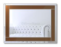Handcrafted Mirror Spectrum Original Handcrafted Coloured Glass Range of Mirrors – Chocolate Brown … Overmantle Mirror, Handmade Mirrors, Art Deco Mirror, Coloured Glass, Chocolate Brown, Design Your Own, Spectrum, Range, Colours