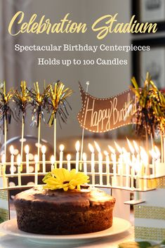 Centerpieces holding up to 100 candles. No candle wax drips on your cake. Flame-resistant, beautiful finished aluminum, reusable for years of celebrations. Start a new tradition! 75th Birthday Parties, 90th Birthday, Birthday Celebration, Birthday Ideas, Birthday Cake With Candles, Birthday Centerpieces, Candle Centerpieces, Diy Party, Party Ideas