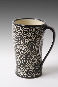 Doodle Mug: Jennifer Falter: Ceramic Mug - Artful Home