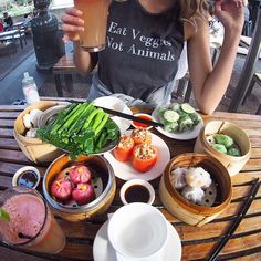 EAT VEGGIES  NOT ANIMALS  @inthesoulshine has done it again with this amazing shirt... I've requested a fruit one next  YUM this amazing #vegan yumcha was from 'bodhi in the park' in the city suchhhhh a cool relaxing spot you all need to check it out !!!  @slimliketim needs to watch his photo game @essenaoneill is new fav photographer HAHA