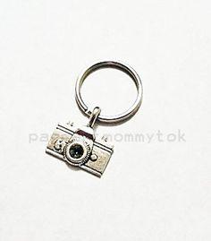 Custom Photography Camera Charm Keychain Keyfab by Pageantmommytok