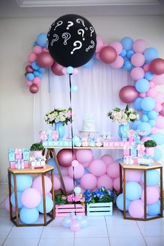 Gender Reveal Party Decorations, Birthday Decorations, Baby Shower Decorations, Gender Party, Baby Gender Reveal Party, Birth Celebration, Baby Announcement To Husband, Unisex Baby Shower, Graduation Party Decor