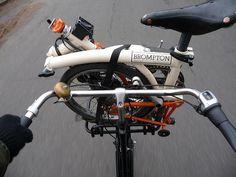 Brompton on a full-size bike.