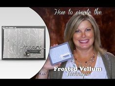 How to create the Frosted Vellum technique for Christmas Cards featuring Stampin Up Woodlands Folder - YouTube