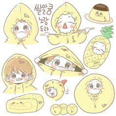 Baekhyun Fanart, Chanbaek Fanart, Kpop Fanart, Baekhyun Chanyeol, Exo Stickers, Kawaii Stickers, Cute Stickers, Chibi, Exo Cartoon