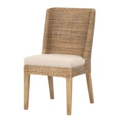 Inlet Wicker Dining Chair Pair Angle View