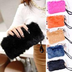 Women's Elegant Clutch Fur Bag