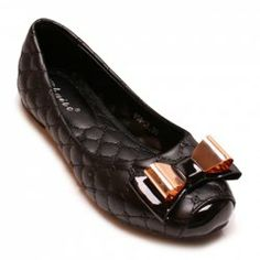 Sweet Women's Flat Shoes With Metallic Bowknot and Checked Design