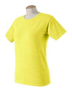 Authentic Pigment Ladies' Ringspun T-Shirt  Neon yellow.  Nice.  Not a bad price too.