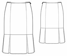 Skirt With Pleats - Sewing Pattern #5734. Made-to-measure sewing pattern from Lekala with free online download.