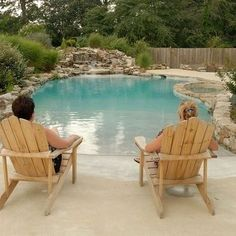 Saltwater Pool With beach entry! A girl can | http://homedesignphotoscollection.blogspot.com