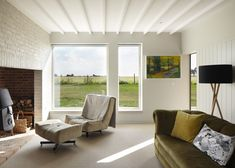 Long Farm is a family house in rural Suffolk, designed by Lucy Marston Architects, which was awarded the UK Grand Designs Home of the Year House Design, House, Interior, Home, Interior Architecture, House Inspiration, Contemporary House, English Farmhouse, Long House