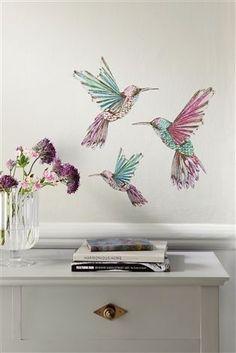 Hummingbird wall stickers from Next