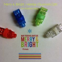 LED Finger Lights Christmas Class Favors :: Christmas Holiday Party Favors ::