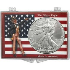 2013 Silver American Eagle American Flag and Uncle Sam Snaplock