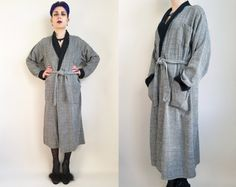 60s Clothing Cotton Robe Vintage Robe Soft Warm by trashedbytime