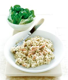 Stilton and ham risotto