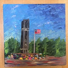 Nc state bell tower painting