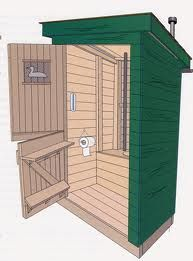 Just about everythings there is to know about shed plans exterior colors can be found here. Outside Toilet, Outdoor Toilet, Outdoor Baths, Outdoor Bathrooms, Cabin Bathrooms, Cabin Plans, Shed Plans, Lavabo Exterior, Outhouse Bathroom