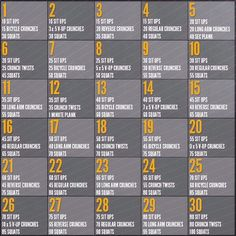 30 Days Workout Challenge! :)