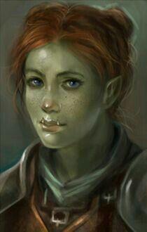 f Half Orc Ranger Medium Armor portrait female sm Fantasy Races, Fantasy Rpg, Fantasy Artwork, Dungeons And Dragons Characters, Dnd Characters, Fantasy Characters, Fantasy Character Design, Character Art, Fantasy Inspiration