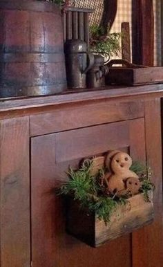 Gingers are a 'necessity' for Christmas decor! Primitive Christmas Decorating, Primitive Country Christmas, Prim Christmas, Christmas Gingerbread, Simple Christmas, Vintage Christmas, All Things Christmas, Christmas Holidays, Christmas Crafts