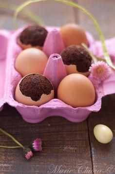 { J'ai vraiment des poules formidables ! }  Œufs de Pâques comme des brownies pralinés…  ♥ Sans lait ♥ IG bas ♥