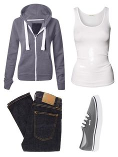 """""""gotta-love-lazy days"""" by gotta-love-fashion ❤ liked on Polyvore featuring American Vintage, Vans and vans sweatshirt jeans tank top"""