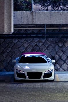 Nice White Sport Audi With Purple Roof Top ♥ App For Your Audiu2026
