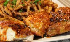 Un poulet portugais comme au Restaurant Bastos Poultry, Comme, Food And Drink, Pork, Turkey, Cooking Recipes, Favorite Recipes, Dishes, Chicken
