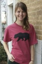 Women's T-shirt red- Short sleeve - spring style fashion @ Black Bear Trading Asheville N.C.