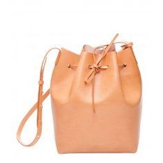 Mansur Gavriel Tan Bucket Bag - Leather Bucket Bag - ShopBAZAAR