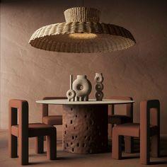 Ceramic Furniture, Furniture Sets, Ceramic Design, Home And Deco, Floor Decor, Floor Lamp, Autumn Inspiration, Design Inspiration, Interiores Design