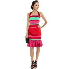 Karen Millen Colour Block Halter Neck Dress in Red K040R  http://www.ekarenmillen.com/karen-millen-colour-block-halter-neck-dress-in-red-k040r-p-8938.html