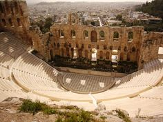 Ampitheater at the Acropolis in Athens, Greece
