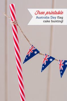 Free printable - Australia Day flag cake bunting!