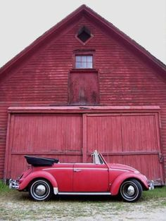 The old convertible car I want with the barn I want both in red. My Dream Car, Dream Cars, Cabrio Vw, Red Beetle, Beetle Bug, Auto Volkswagen, Kdf Wagen, Beetle Convertible, Old Barns
