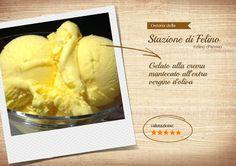 Gelato alla crema mantecato all'extra vergine d'oliva