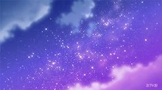 Aesthetic Gif, Purple Aesthetic, Aesthetic Pictures, Aesthetic Wallpapers, Anime Backgrounds Wallpapers, Anime Scenery Wallpaper, Cute Wallpapers, Desktop Wallpapers, Sky Anime